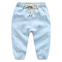 Мягкие легкие, летние джинсы для малышей, очень удобные, код (38129) в наличии: 90 см,100 см,110 см,120 см,130 см,140 см