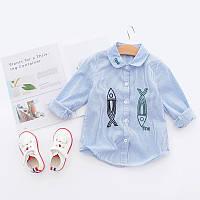 Стильная рубашка с длинными рукавами для детей, код (38110) в наличии: 150 см,100 см,110 см,120 см,130 см,140 см