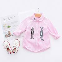 Стильная рубашка с длинными рукавами для детей, код (38109) в наличии: 150 см,110 см,120 см,140 см