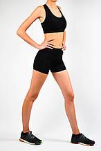 Жіночий спортивний комплект чорного кольору шорти та топ