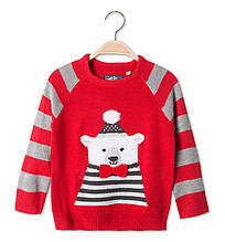 Детский свитер с медведем для мальчика C&A Германия Размер 128