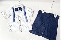 Летний костюм для мальчика от 4 до 8 лет.