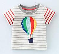 Детская футболка в полоску с воздушным шаром, код (38070) в наличии: 18M,2T,3T,5T,6T