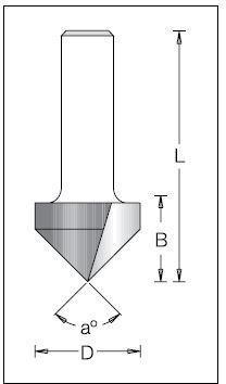 Фреза DIMAR гравировочная D=16 a=90 d=12