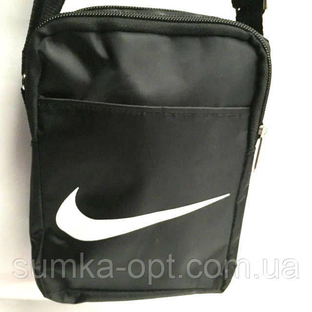 Текстильные барсетки Nike плащевка (черный)13*19