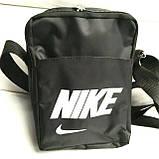 Текстильные барсетки Nike плащевка (черный)13*19, фото 2