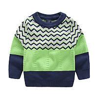 Детский теплый свитер зеленого цвета, ТОП качество, код (38012) в наличии: 100 см,110 см,120 см,130 см,140 см