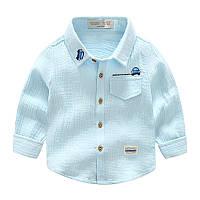 Красивая рубашка для мальчика, высочайшее качество, код (38011) в наличии: 100 см,120 см,130 см