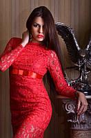 Платье вечернее макси гипюр 437 ГФ