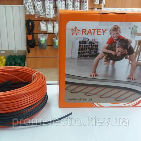 Кабель нагревательный одножильный Ratey RD1 длиной 59,5м/7,4м², 1100Вт, фото 2