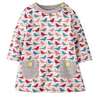 Платье из чистого хлопка с птичками, код (37958) в наличии: 2T,4T,5T,6T,7T