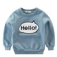"""Теплый детский свитер """"Hello"""", код (37891) в наличии: 90 см,100 см,110 см,140 см"""
