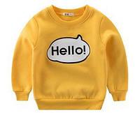 "Теплый детский свитер ""Hello"", код (37892) в наличии: 120 см,130 см"