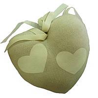 Сердце текстильное для декора Gilde 22 x 20 см Зеленый (46363)
