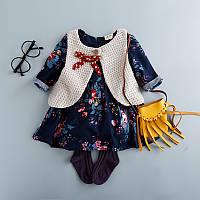 Комплект для девочки, платье+безрукавка, код (37831) в наличии: 90 см