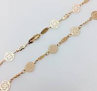 Цепочка, плетение Медальон 50 см.D-8.5 Ювелирная бижутерия