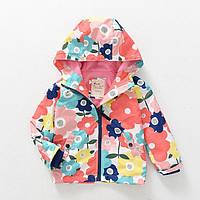 Весенняя детская куртка с капюшоном и флисовой подкладкой Meanbear 3234eac114080