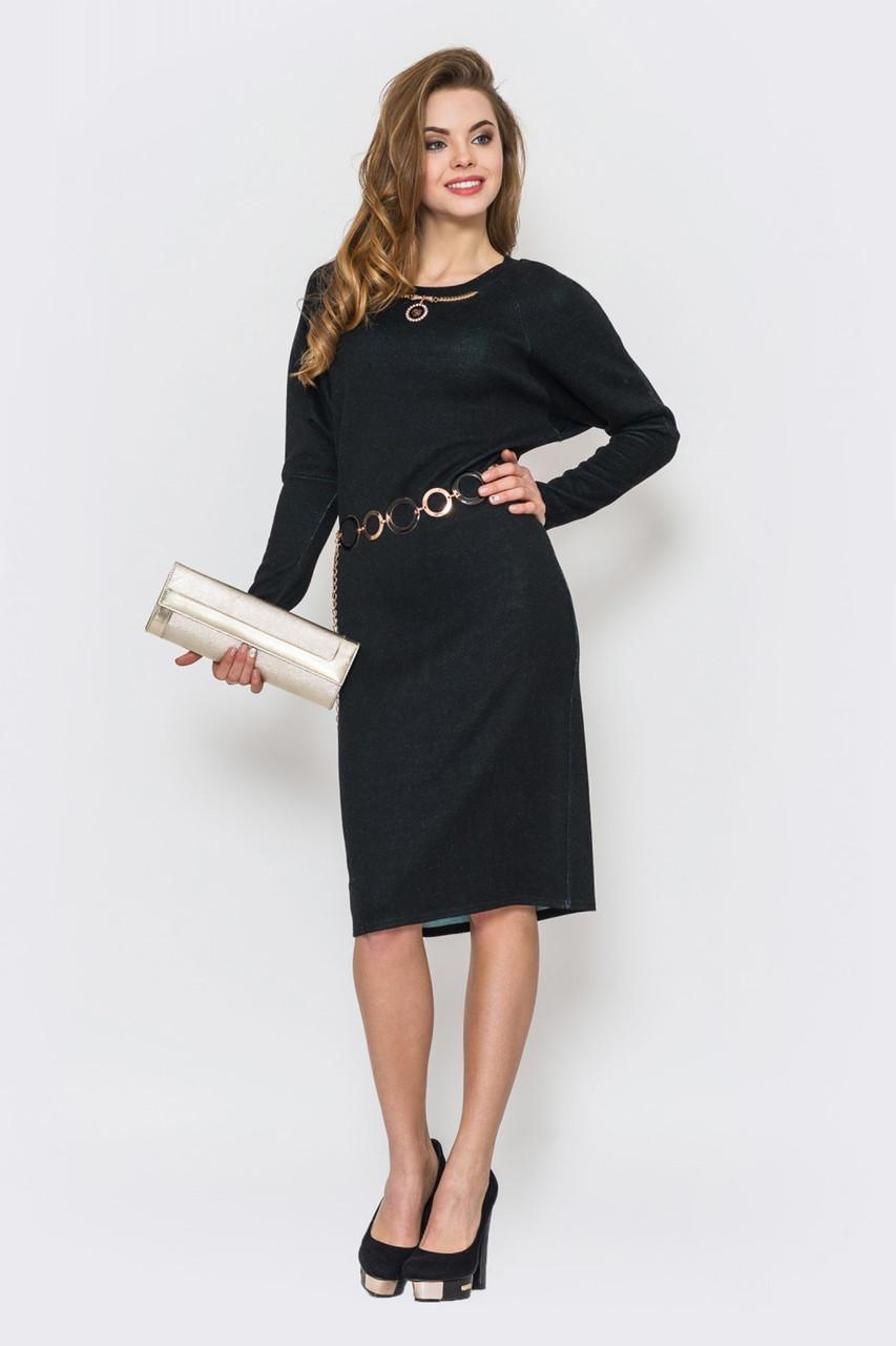 Стильное женское платье из ангоры без застежек 90227, фото 1