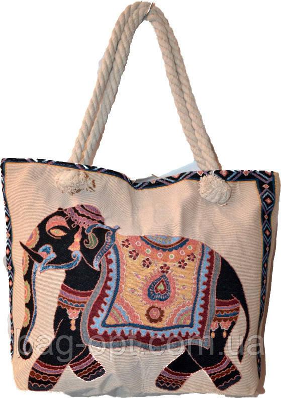 Пляжная сумка на канатных ручках  (34*34*12)