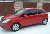 Дефлекторы боковых стекол Opel Corsa D 3d 2006 (Опель Корса) Cobra Tuning