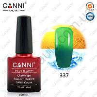 Термогель-лак Canni #337 (темный зеленый - светлый зеленый) 7.3 ml