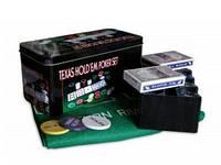 Покерный набор на 200 фишек с номиналом «Техасский холдем» №200т