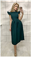 Элегантное платье из габардина. Артикул: 334_emerald