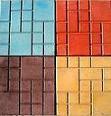 """Тротуарная плитка вибролитая квадрат """"Мозайка"""", серая"""