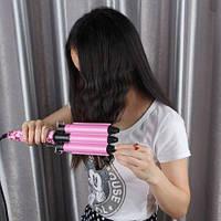 Плойка тройная волна Gemei GM 1988 керамический утюжок для волос щипцы