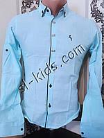 Стильна сорочка для хлопчика 11-15 років(роздр) (жовта) (пр. Туреччина)