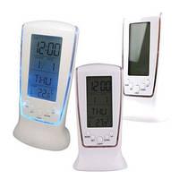 Настольные цифровые часы с термометром, подсветкой