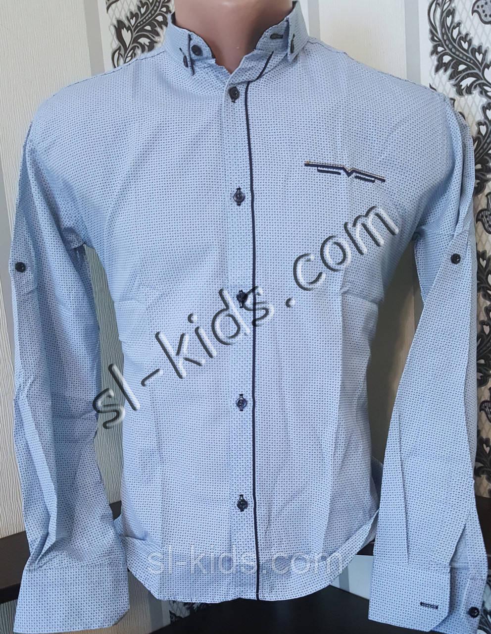 Стильная рубашка для мальчика 11-15 лет(опт) (1802) (пр. Турция)