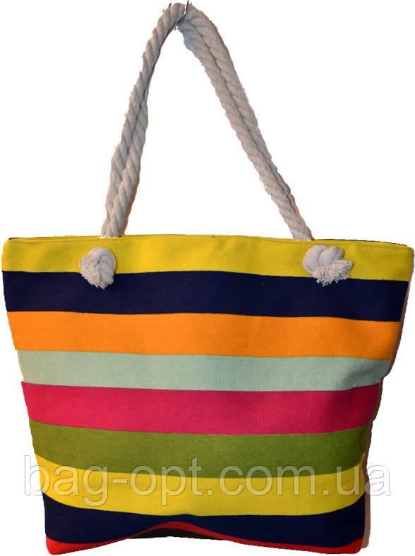 Пляжна сумка на канатних ручках (35*35*12)