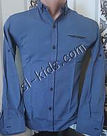 Стильная рубашка для мальчика 11-15 лет(опт) (1809) (пр. Турция)