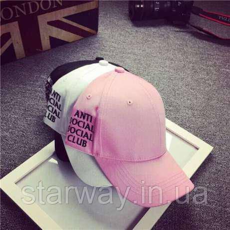 Стильная кепка assc anti social social club логотип вышивка