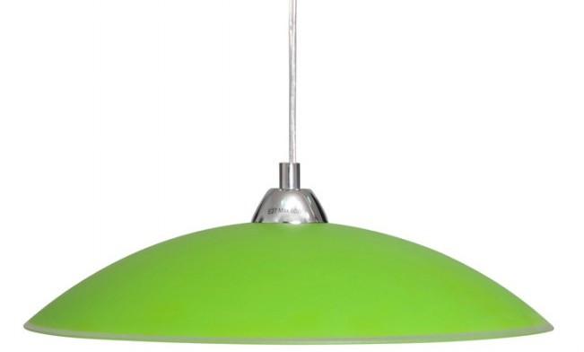 """Светильник 26260 """"Індіго"""" НББ 1х60 Вт,Е27 d=400,  подвес, зелёный"""