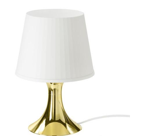 ЛАМПАН Лампа настольная, золотой, 70342439, ИКЕА, IKEA, LAMPAN