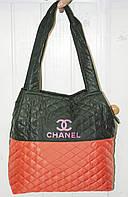 Сумка спортивная женская стеганая Chanel Шанель