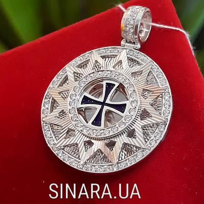 Роскошный серебряный кулон Звезда Эрцгамма диам. 25мм