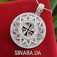 Роскошный серебряный кулон Звезда Эрцгамма диам. 25мм, фото 3