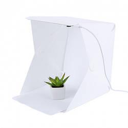 Световой лайткуб (фотобокс) UKC с LED подсветкой для предметной макросъемки 40*40*40 см + чехол