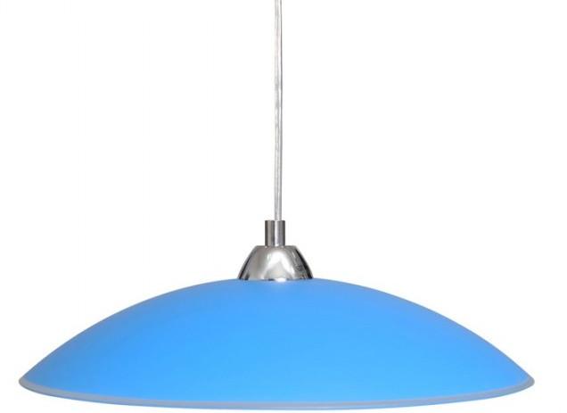 """Светильник 26260 """"Індіго"""" НББ 1х60 Вт,Е27 d=400,  подвес, синий"""