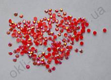 Стразы для дизайна ногтей голограммные (красные) 1000 штук