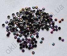 Стразы для дизайна ногтей голограммные (черный с сиреневым отливом) 100 штук