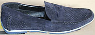 Туфли замшевые классика мужские с перфорацией, кожаная обувь мужская от производителя модель ОЛТ304, фото 1