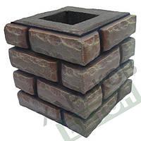 Форма наборного столба для забора К3 Рваный камень