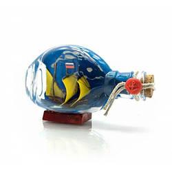 Парусник в бутылке (13,5х8х5,5 см) ( 23313)