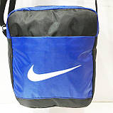 Текстильні барсетки Nike плащівка (блакитний)19*23, фото 4