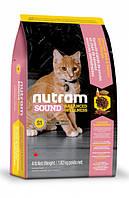 Корм NUTRAM (Нутрам) Sound Balanced Wellness Kitten холистик для котят (курица, лосось), 1,8 кг