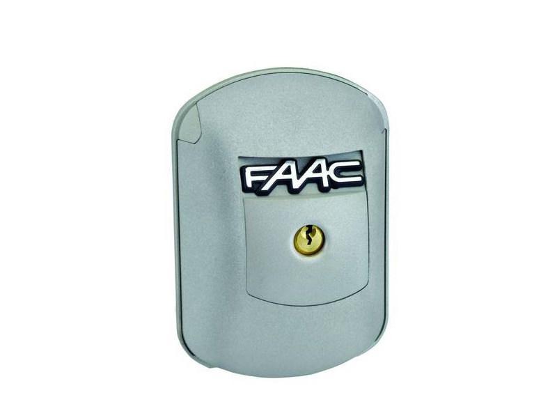 Ключ-селектор FaacXK21 L 24В с защитой от взлома и рычажным механизмом разблокировки